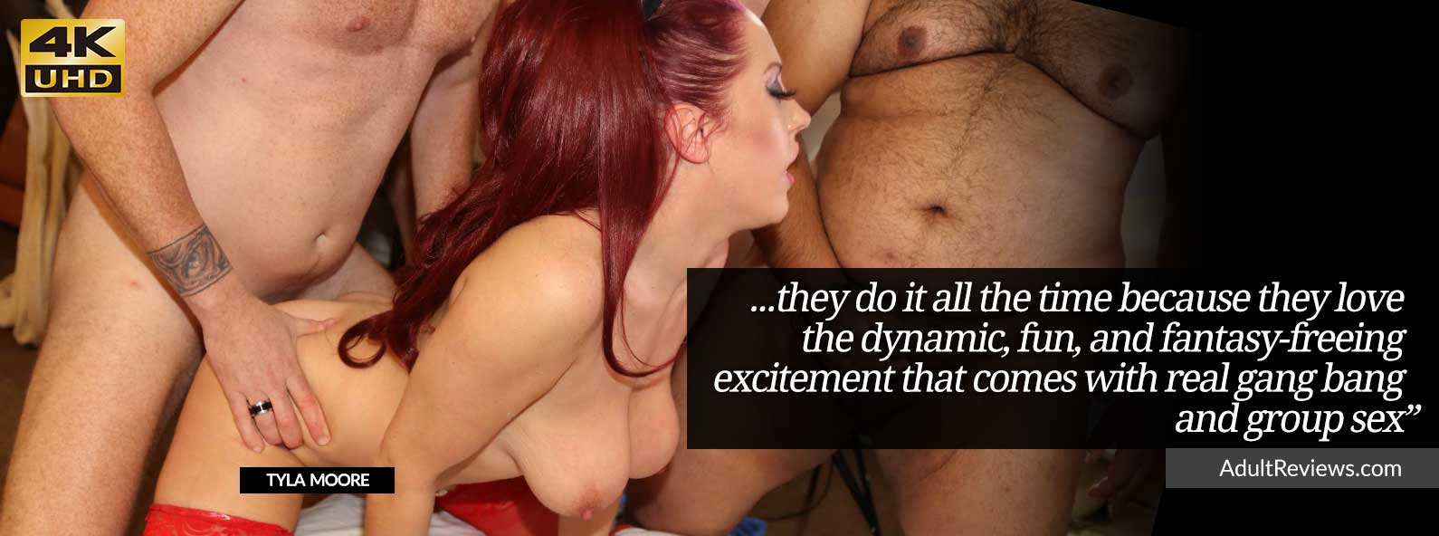 Stunning Tyla Moore enjoys many guys fucking her in a sex party